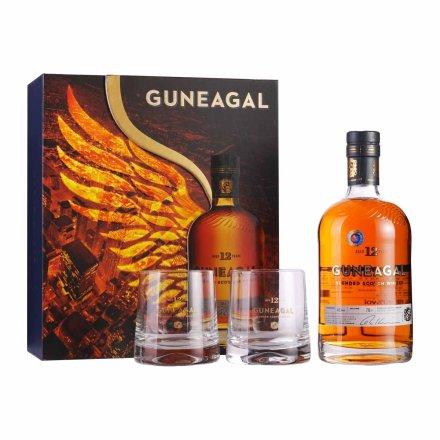 40°英国鹰勇GUNEAGAL 12年威士忌2013款礼盒700ml(双杯)