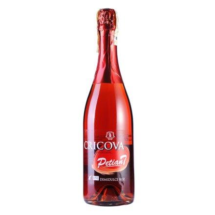 摩尔多瓦·克里克瓦酒庄Petiant半甜粉红起泡葡萄酒(促销品)
