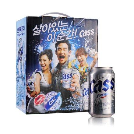 韩国凯狮罐装啤酒礼盒355ml*12