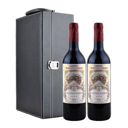 法国男爵窖藏波尔多干红双支皮盒装