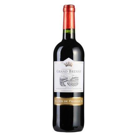 【清仓】法国布瑞尼干红葡萄酒750ml