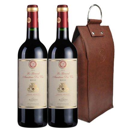 法国酒星干红葡萄酒双支皮袋装
