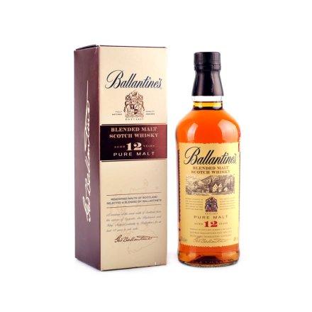 (清仓)40°英国百龄坛十二年调和型纯麦芽苏格兰威士忌700ml
