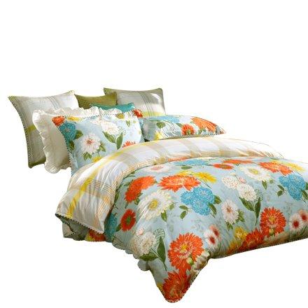 富安娜床单四件套爱在花开