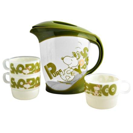 史努比绿韵壶杯4件组
