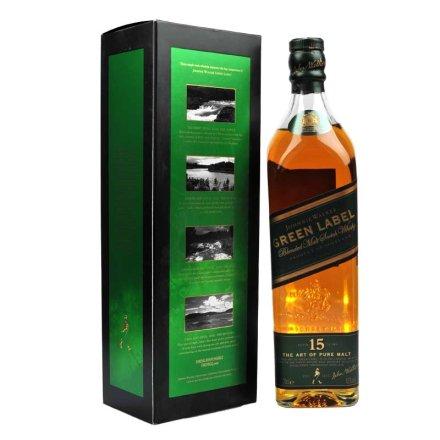 (清仓)43°英国尊尼获加绿方威士忌700ml