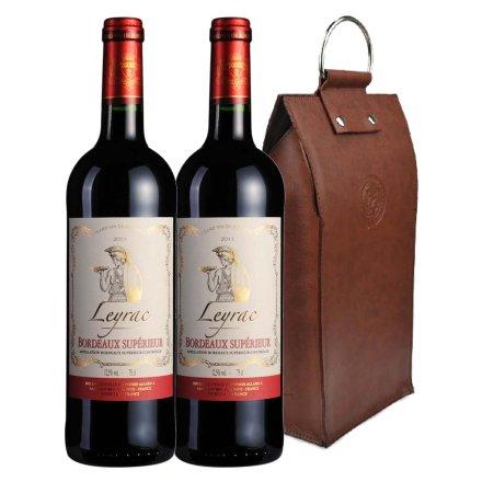 法国丽哈克超级波尔多2011干红葡萄酒双支皮袋装