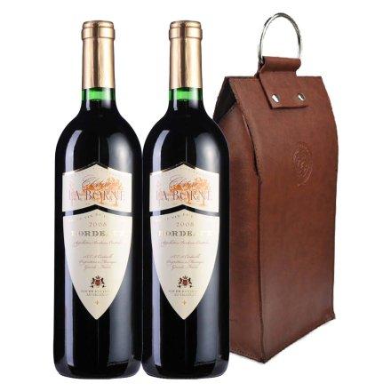 法国报恩城堡2008干红葡萄酒双支皮袋装