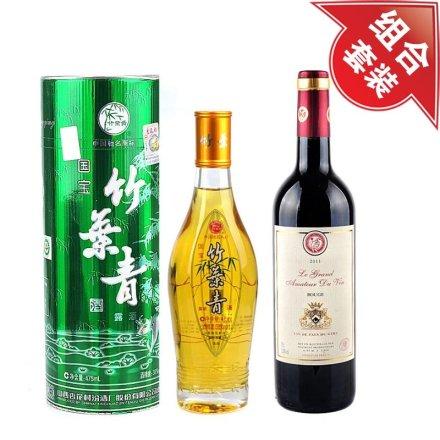 38°国宝竹叶青475ml + 酒星干红葡萄酒