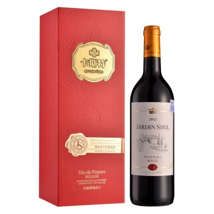法国卡斯特赛拉尔干红葡萄酒750ml