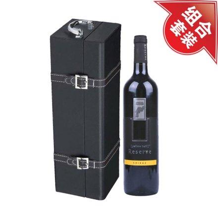 黄尾袋鼠珍藏西拉干红葡萄酒+黑色单支皮盒