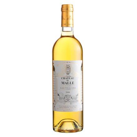 法国2008马勒酒庄甜白贵腐葡萄酒750ml