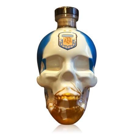 40°水晶头骨伏特加世界杯手绘限量版(阿根廷队)750ml