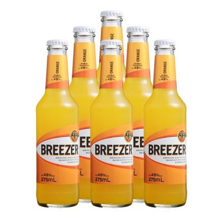 4.8°百加得冰锐朗姆预调酒橙味275ml(6瓶装)
