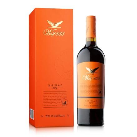 12.5°詹姆士888西拉2013干红葡萄酒黄标礼盒750ml