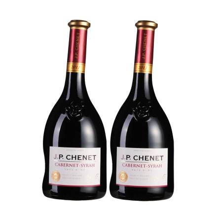 法国香奈精选赤霞珠-西拉干红葡萄酒750ml(双瓶装)