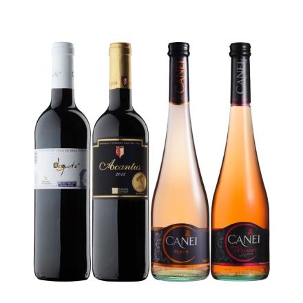 红酒之家西班牙干红意大利起泡酒超值套装750ml(4瓶装)