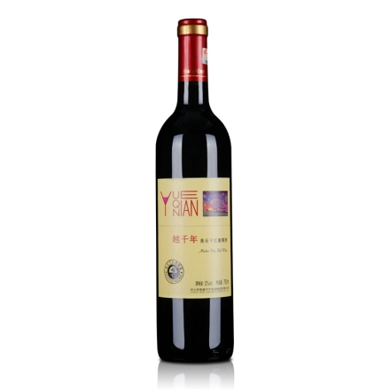 【清仓】中国越千年美乐干红葡萄酒750ml