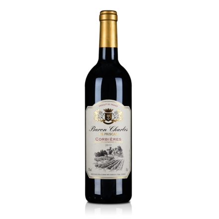 法国AOC科比埃法定产区红葡萄酒750ml