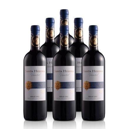 智利圣海莲娜梅鹿辄干红葡萄酒750ml(6瓶装)