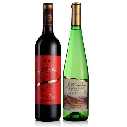 中国益利永结同心干红葡萄酒750ml+中国益利精选级半甜葡萄酒650ml