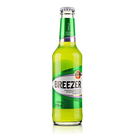 4.8°百加得冰锐朗姆预调酒苹果味275ml