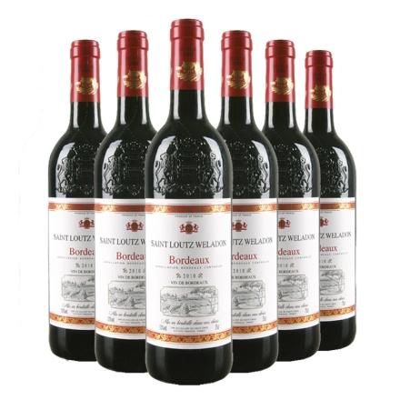 法国波尔多AOC圣露威兰顿2010干红葡萄酒750ml(6瓶装)
