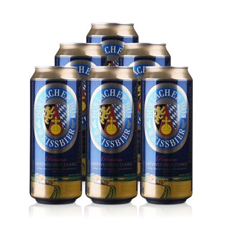 德国德拉克黑啤酒500ml(6瓶装)