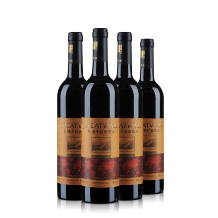 中国长城北纬40°V6干红葡萄酒750ml(4瓶装)