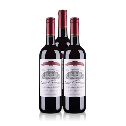 法国维克特干红葡萄酒750ml(3瓶装)