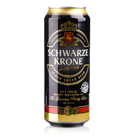 德国施瓦皇冠黑啤酒500ml
