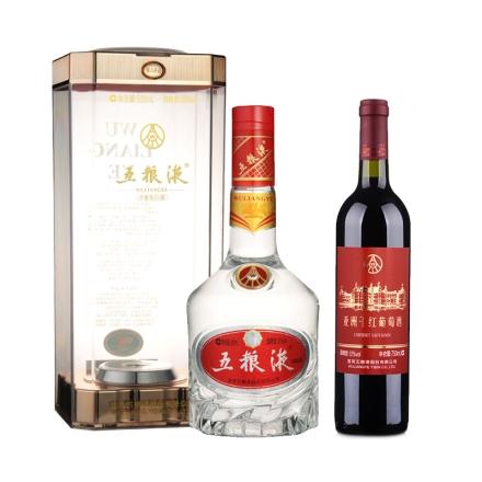 39°新品五粮液500ml+中国五粮液亚洲干红葡萄酒赤霞珠750ml(乐享)