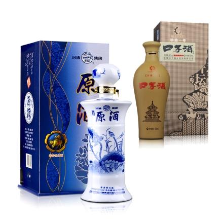46°口子酒(珍藏一号)500ml+52°汾酒集团青花原酒750ml