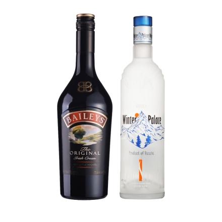 17°爱尔兰百利甜酒750ml(新版)+ 40°俄罗斯冬季宫殿伏特加750ml