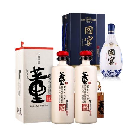 54°董酒何香750ml(双瓶装)+53°汾酒集团晋都·国宴1000ml