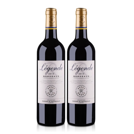 法国拉菲传奇 2013 波尔多法定产区红葡萄酒750ml(双瓶装)