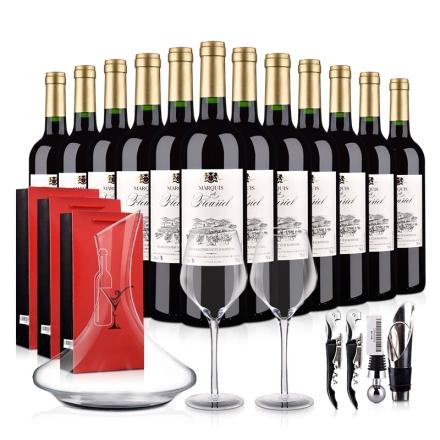 【红酒特卖】法国进口富乐男爵干红葡萄酒豪华大礼包