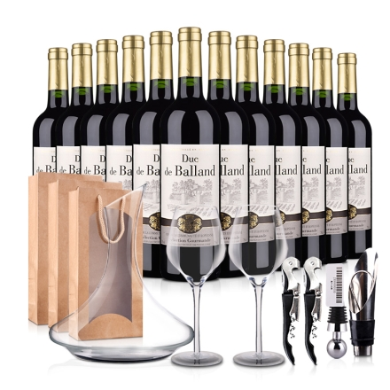 法国巴朗德公爵干红葡萄酒豪华 大礼包
