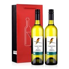 澳大利亚朗翡洛荆棘鸟莎当妮干白葡萄酒750ml*2+精美双支礼品袋