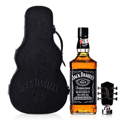 40°美国 Jack Daniels杰克丹尼限量版吉他礼盒 700ml