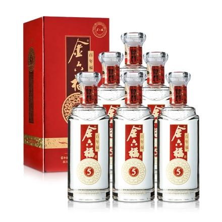 50°金六福百年福(5)500ml(6瓶装)