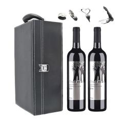 【周年庆特卖】澳大利亚丁戈树赤霞珠干红葡萄酒(双支皮盒套装)750ml*2