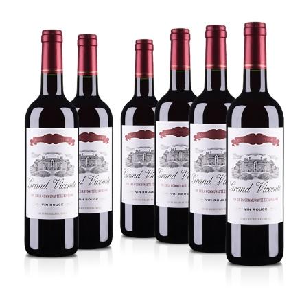 法国维克特干红葡萄酒750ml(6瓶装)