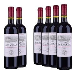 智利拉菲巴斯克卡本妮苏维翁红葡萄酒750ml*6(又名:华诗歌)