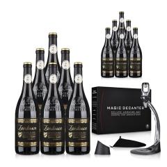 法国原瓶进口AOP勆迪干红葡萄酒750ml(12瓶装)+快速醒酒器(乐享)