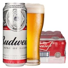 英国原装进口啤酒百威(佰德威)黄啤酒500ml*24听装