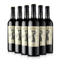 红酒 西班牙原瓶进口红酒 奥玛干红葡萄酒750ml 6支整箱装